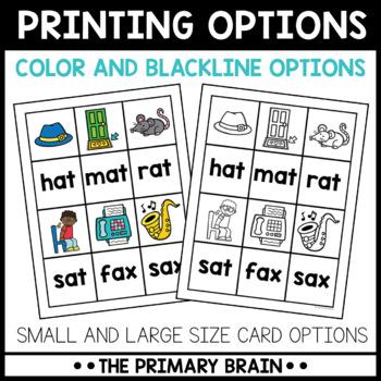 Short Vowel CVC Word Memory Match Game BUNDLE