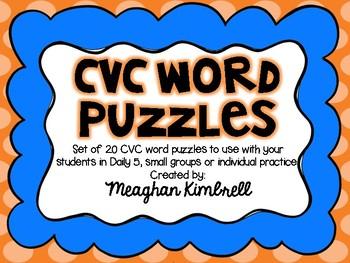 Short Vowel CVC Word Puzzles