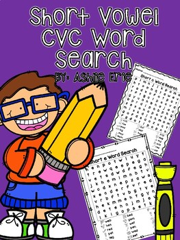 Short Vowel CVC Word Search