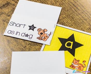 Short Vowel CVC Word Sort, Fluency Bookmarks, Worksheets, and Assessments