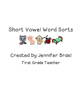 Short Vowel CVC Word Sorts