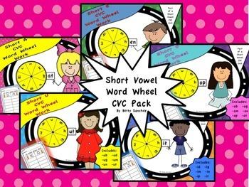 Short Vowel CVC Word Wheel BUNDLE