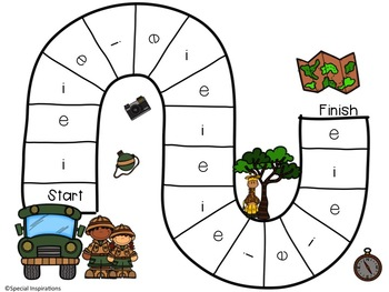 Short Vowel CVC Safari Word Work Activities & Literacy Centers