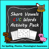 #presidentialdollardeals Short Vowel CVC Words Activity Pa