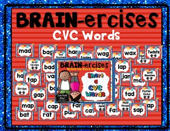 Short Vowel CVC Words BRAIN-ercises BUNDLE!!