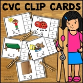 Short Vowel CVC Words Clip Cards