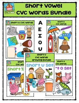 Short Vowel CVC Words BUNDLE