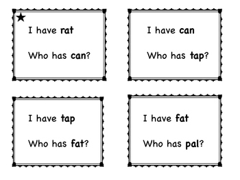 Short Vowel CVC Words - I have .. Who has?