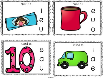 Short Vowel CVC Words Task Cards