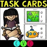 Short Vowel CVC Words Task Cards