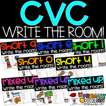 Short Vowel CVC Write the Room