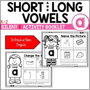 Short Vowel (CVC) to Long Vowel (CVCE) Booklet ~ The Bundle