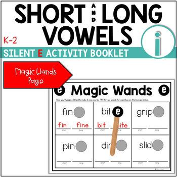 Short Vowel (CVC) to Long Vowel (CVCE) Booklet ~ The Sound of I