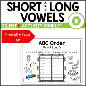 Short Vowel (CVC) to Long Vowel (CVCE) Booklet ~ The Sound of O
