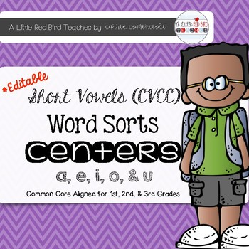 Short Vowel (CVCC) Word Sorts {Editable}