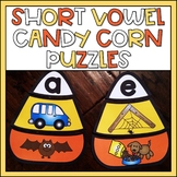 Short Vowel Candy Corn Puzzles Fall Activity for Kindergarten