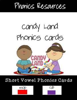 Short Vowel Candy Land Cards