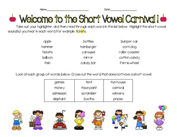Short Vowel Carnival