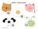 Short Vowel Center {Sorting Mat and Cards}