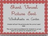 Short Vowel Center or Worksheets