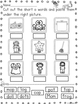 Short Vowel Characters and Activities