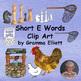 Short Vowel Clip Art Bundle in Color and Black Line