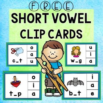 Short Vowel Clip Card Activity {FREE}