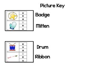 Short Vowel Clip Cards