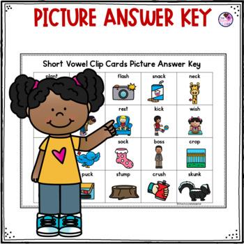 Short Vowel Clip Cards FREEBIE