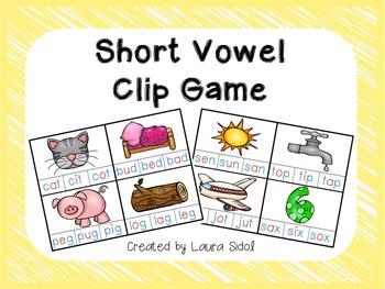 Short Vowel Clip Game