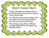 Short Vowel Clip-It Activity