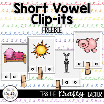 Short Vowel Sound Phonics Activity Kindergarten