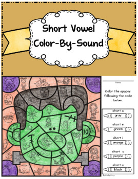 Short Vowel Color-By-Sound ~ Frankenstein