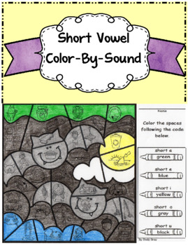 Short Vowel Color-By-Sound ~ Halloween Bats