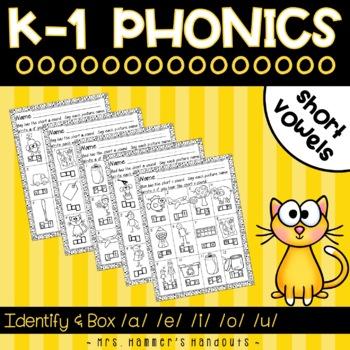 Short Vowel Configuration Boxes