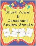 Short Vowel & Consonant Worksheets