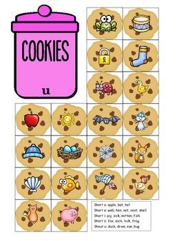 Short Vowel Cookies