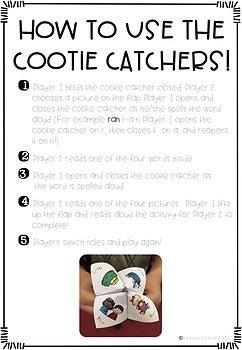 Short Vowel Cootie Catchers
