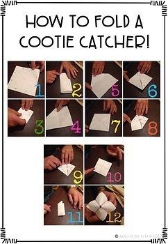 Short Vowel Word Family Cootie Catchers