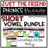 Short Vowel Craftivity BUNDLE, Phonics Friends Character O