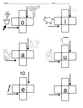 Short Vowel Crossword