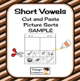Free Short Vowel Cut and Paste Picture Sort Short E vs. Short I
