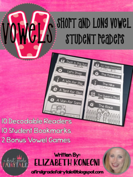 Long and Short Vowel Student Decodable Books