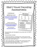 Short Vowel Decoding Assessments