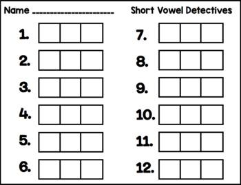 Short Vowel Detectives:  The Case of the Missing Vowels