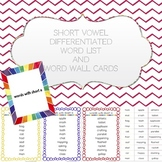 Short Vowel Differentiated Word List