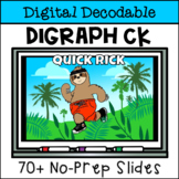 Short Vowel Digital Decodable Story with Consonant Digraph CK