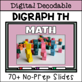 Short Vowel Digital Decodable Story with Consonant Digraph TH
