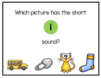 Short Vowel Digital Interactive Fun (Digital Classroom)