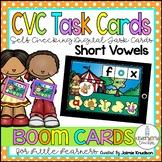 Short Vowel Digital Task Cards / Boom Cards / Distance Lea